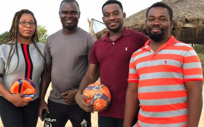Ghana Beach Soccer national team coach completes tour with Tema United officials